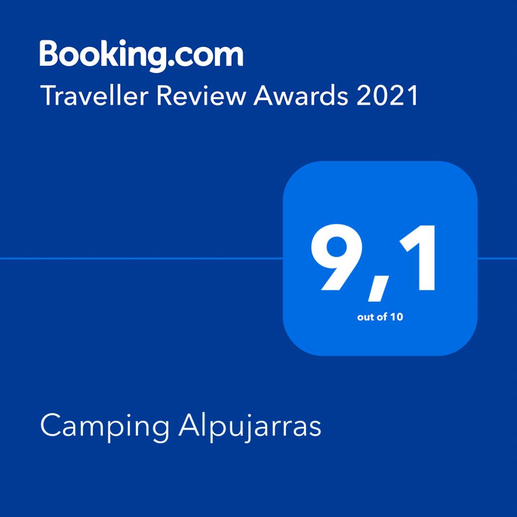Camping alpujarras tiene valoración positiva en booking